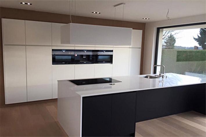 keuken  wit en zwart mat laminaat/ composiet  flex design, Meubels Ideeën