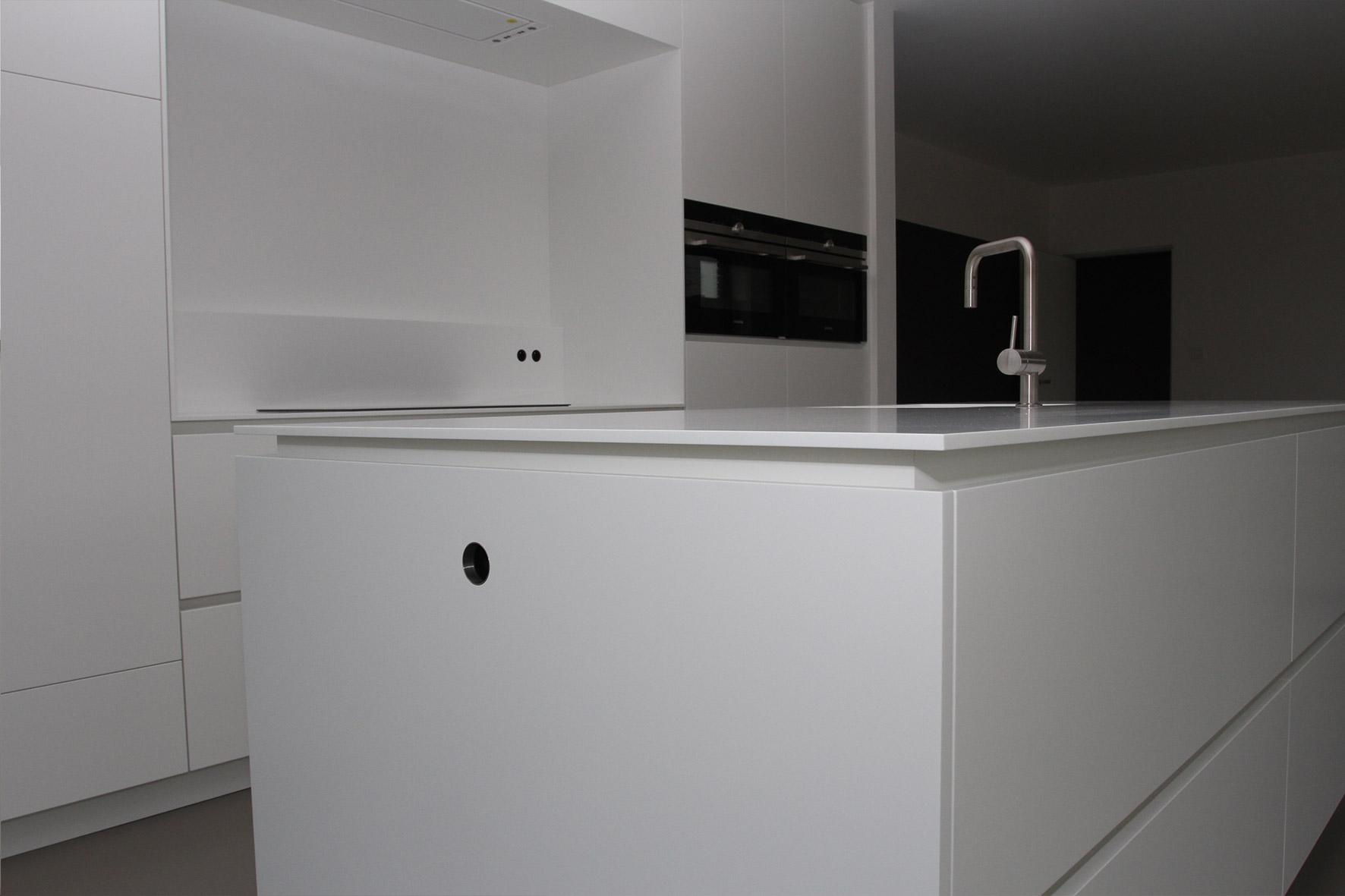 Creatief wand design diy - Keuken wit en groen ...