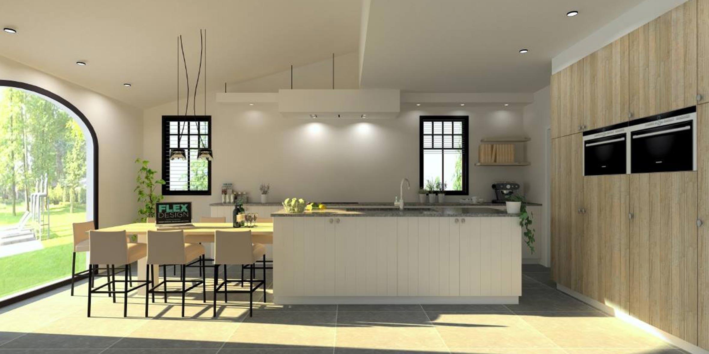 Keuken 75 flex design for Keuken 3d ontwerpen